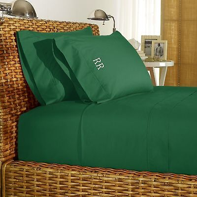 Ralph Lauren 464 Thread Count Percale Sheeting In Cricket Green