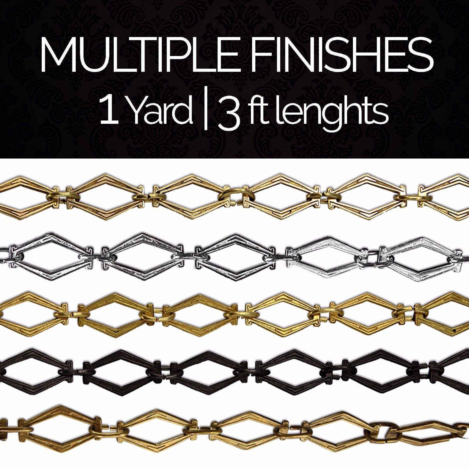 Solid Brass Hexagonal Chandelier Pendant Lighting Chain #22