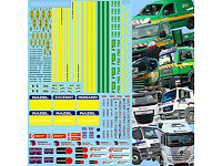 1:50 Decal Abziehbild Volvo MB Semitrailer Canvas Sovtransavto Daf