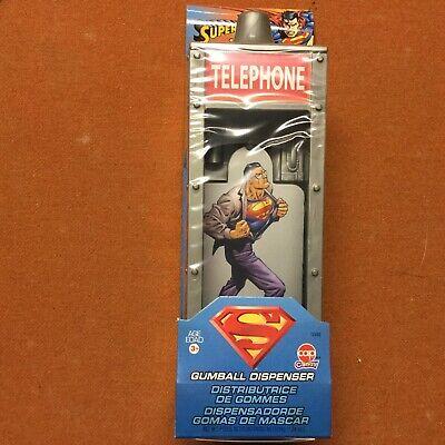 Superman Mini Gumball Dispenser Telephone Booth   New-Never Opened (Gumball Dispenser)