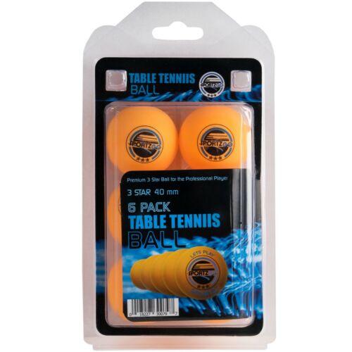 Table Tennis Balls 3-Star Orange (12-Pack) by SportzGo