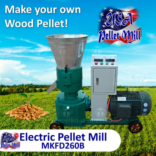 Electric Pellet Mill For Wood - MKFD260B - USA