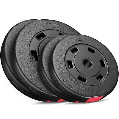 Hantelscheiben 5, 10, 20, 30 kg Kunststoff Gewichte Hanteln Set Gewichtsscheiben ()