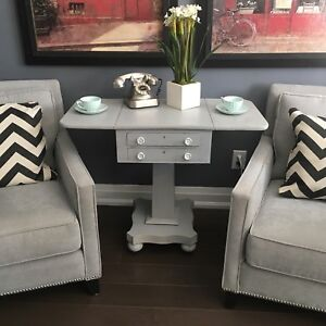 Rustic end table vintage/antique side table