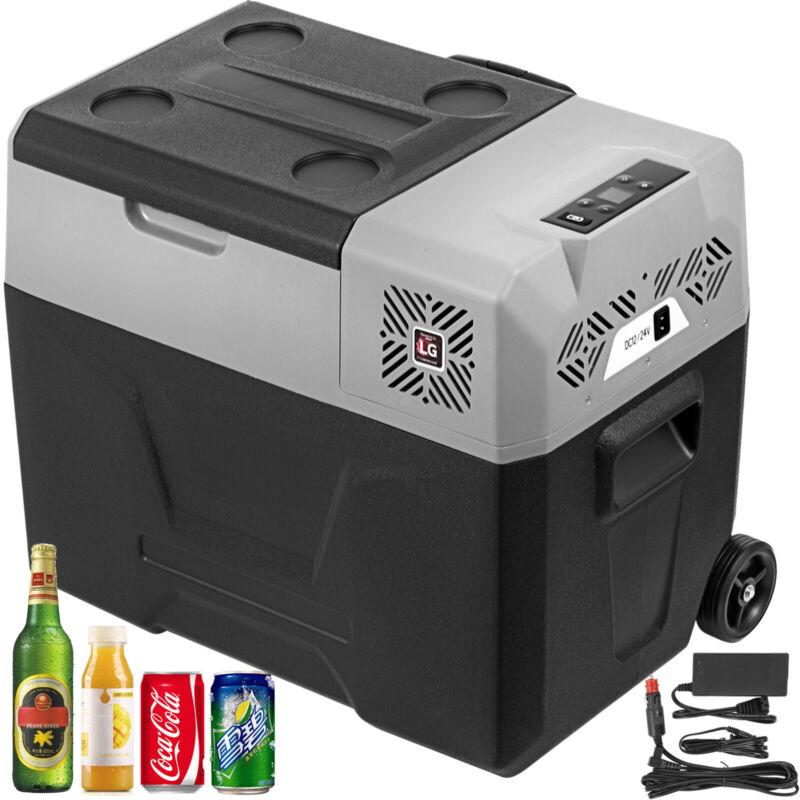 Portable Car Fridge Freezer Cooler Mini Refrigerator 42QT 12V/24V LG Compressor