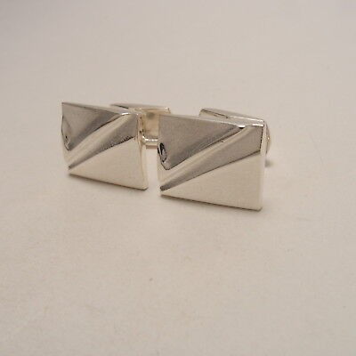 Lapponia Finland Rectangles Cufflinks 2000 Sterling Silver 925 - Mint