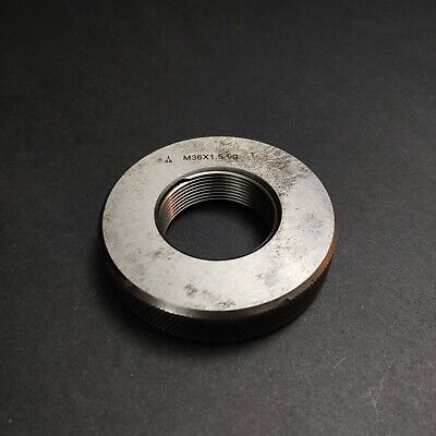 M36 X 1.5 6g Thread Ring Gage Machinist Tools Metrology M36