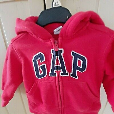 RED GAP BABY HOODIE 12-18 MONTH'S