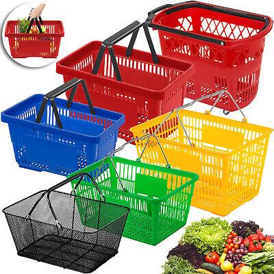 12312pcs Shopping Basket Plasticmental Handledon Castors Supermarket