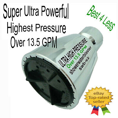 Super Ultra High Pressure Shower Head Xtra Modified Over 13.5 gpm My Best