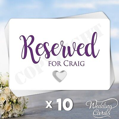 Personalised Reserved for Seating Cards Party Wedding Christening Table Names A7 (Reserved Cards For Tables)