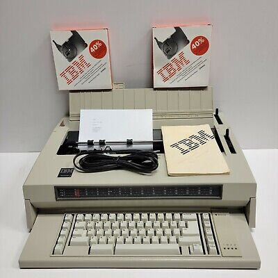 Ibm Wheelwriter 3 Iii Electronic Electric Typewriter W2 New Ribbons New Cord