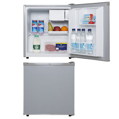 SIA TT01SV 47L Counter Table Top Mini Drinks Fridge With Ice Box In Silver | A+