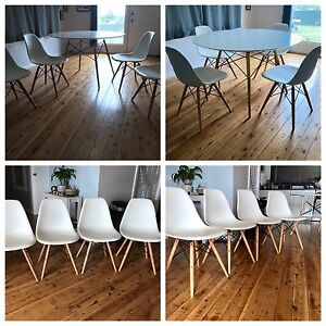 White Replica Eames Dining Set Bargo Wollondilly Area Preview