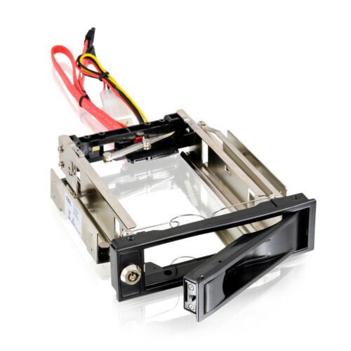 trägerloser SATA Festplatten Einschub Wechselrahmen für Laufwerksschacht schwarz