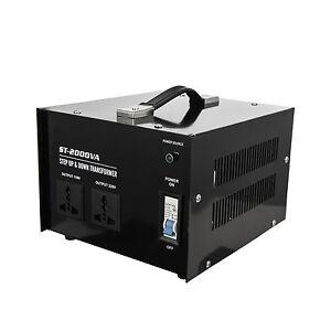 Portable High Power 2000W Voltage Transformer Converter 110V to/from 220V