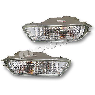 (Fits 01-04 Toyota Tacoma Driver + Passenger Bumper Turn Signal Light Lamp 1 Pair)