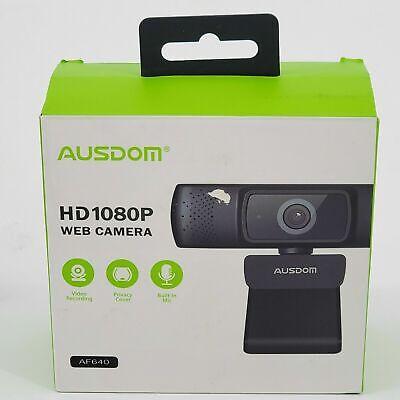 AUSDOM Imsourcing AF640 1080p FHD Wide Angle Desktop Webcam - Black