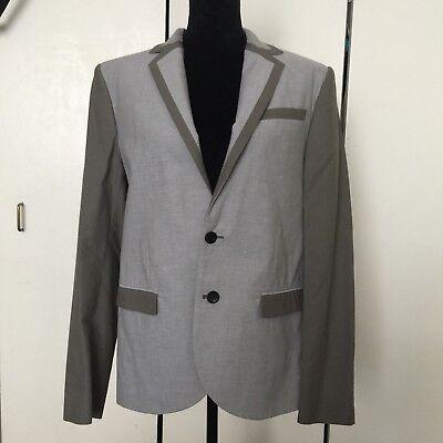 Alexander McQueen Men's Gray Fashion Blazer Jacket Sport Coat Sz 48 Italy
