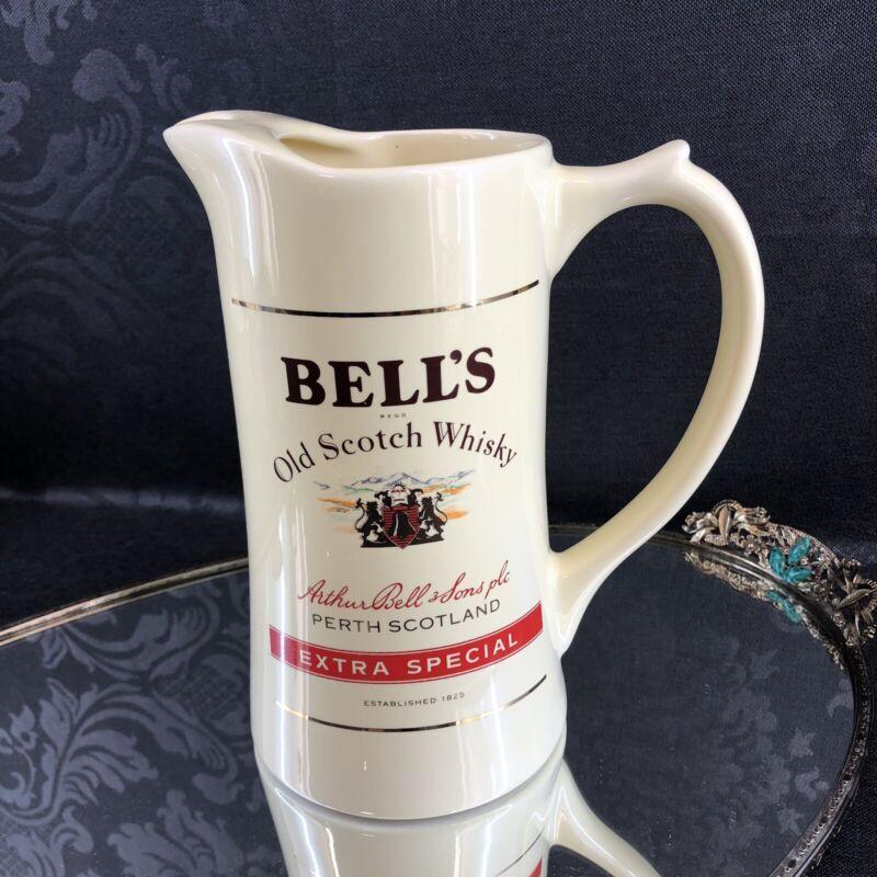 Bell's Extra Special Irish Whiskey Jug Ireland Pottery Pitcher Bar Scotch Bells