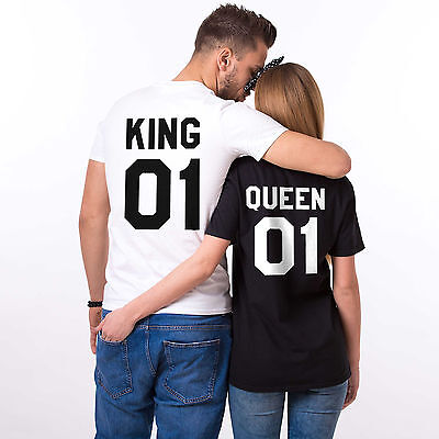 King and Queen Matching Shirts Couple Outfits Tops Family T-Shirts His and Hers (King And Queen Outfits)