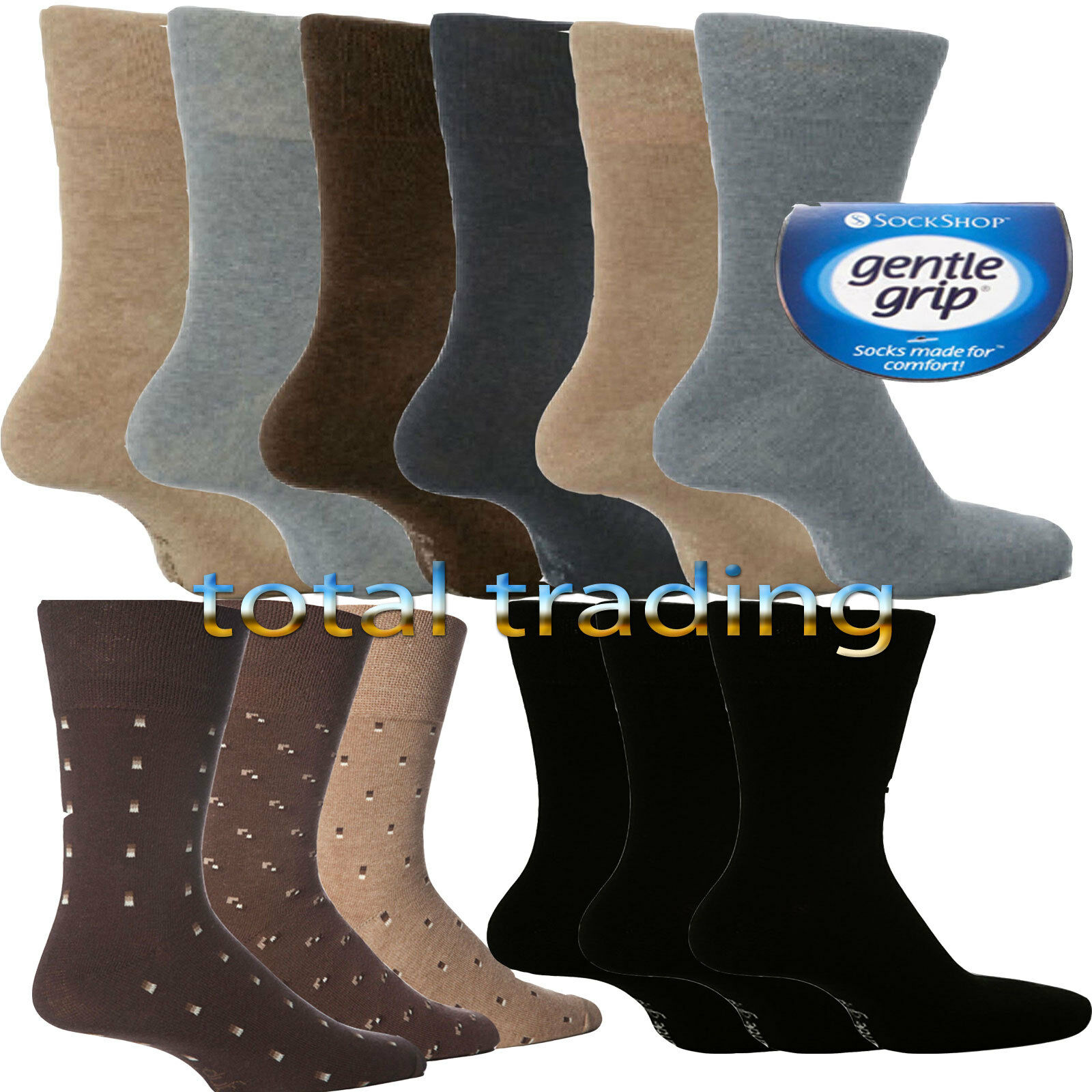 Gather Other Mens Womens Gentle Grip Cotton Socks Seamless Sports Socks 4 Pairs