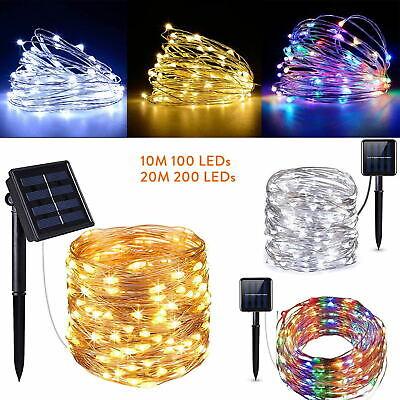 10/20M LED Solar Power Fairy Light String Lamp Party Xmas Decor Garden Outdoor C