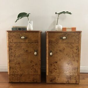 RETRO Art Deco Reliance vintage bedside tables bed side table