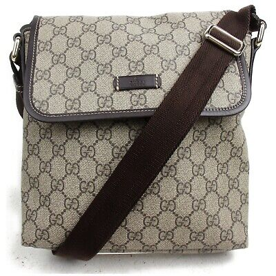 Gucci Shoulder Bag  Light Brown PVC 831537