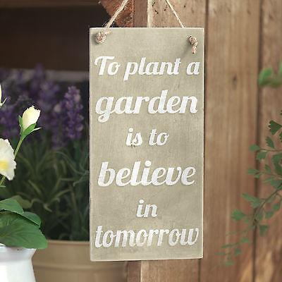 Plant A Garden .. Believe - Handmade Rustic Small Motivational Gardening Sign