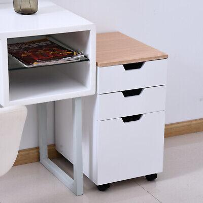 3-Drawer Rolling Filing Cabinet File Storage Organizer Home