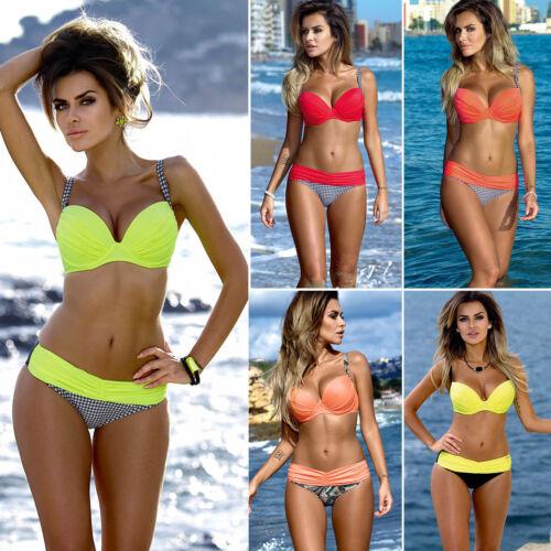 Women Padded Push Up Bikini Set Swimsuit Swimming Swimwear Summer Beach Costume Clothing, Shoes & Accessories