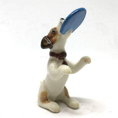 ZOO CRAFT Handicraft Miniatures Ceramic Playful Jack Russell Dog FIGURINE (Zoo Craft)