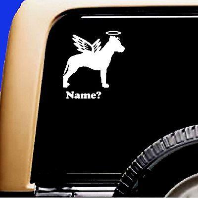 Dog Memorial Pitbull Pit Bull Angel Sticker Vinyl Decal Original Design - CA$6.00