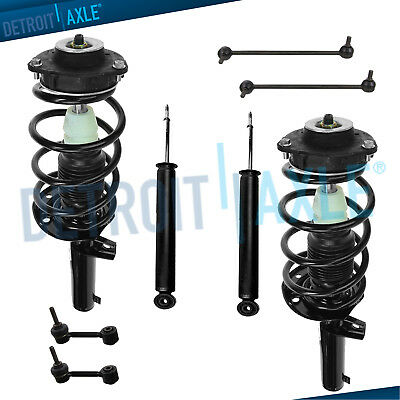 VW Jetta Passat Rabbit - Front Rear Struts w/Coil Spring & Sway Bar Links