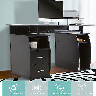 Computer Desk Table Home Office Workstation Monitorprinter Shelf Furniture Pc