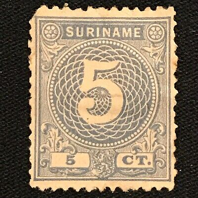 Suriname SC #21 Mint H Faulty 1890