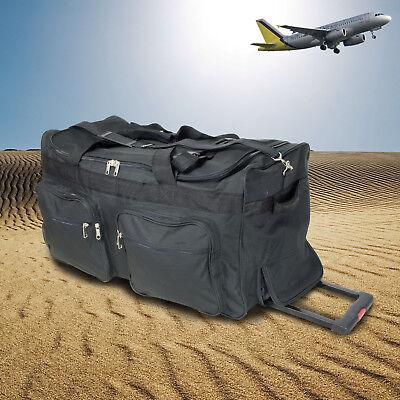 Mit Rädern Trolley Tasche (XXL Trolleytasche mit 115/180 Liter Volumen Reisetasche mit 3 Rädern Sporttasche)