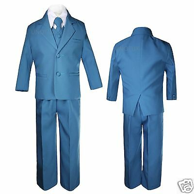 Baby Toddler Boys Green Teal Turquoise Wedding Formal Ves...