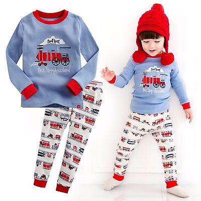 Vaenait Baby Toddler Kids Boy Clothes Sleepwear Pajama Set