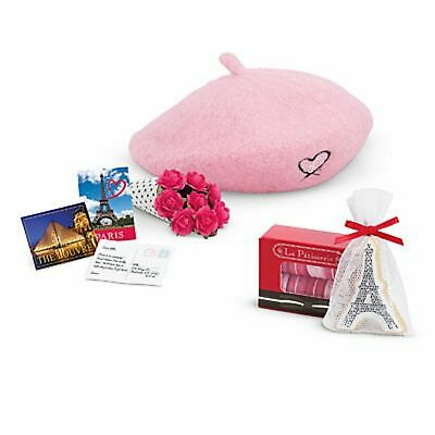 American Girl Grace's Welcome Gifts  Beret Flowers  Macaroons Eiffel Tower  ](Eiffel Tower A Girl)