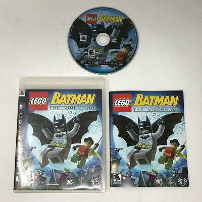 Lego Batman The Videogame Complete PS3 Sony Playstation 3 w Case Manual CIB