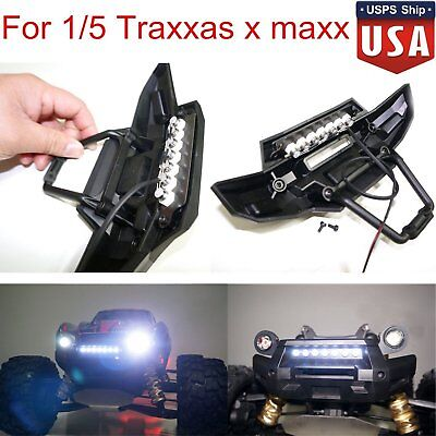 Traxxas xmaxxebay front bumper 7 led light bar lamp mount for 15 traxxas x maxx mozeypictures Images