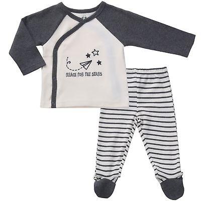 Asher & Olivia Footed Pants Long Sleeve Kimono Shirt 2 Pc Un