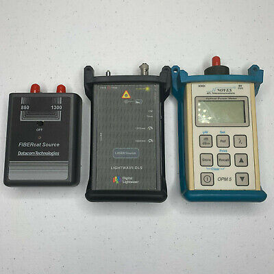 Noyes Opm5-2c Optical Power Meter Sm Mm Source Set