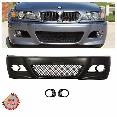 BMW E46 M3 STYLE FRONT BUMPER KIT W/ MESH W/ FOG LIGHT COVERS 2000-2006 COUPES