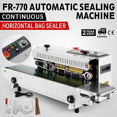 FR-770 Continuous Band Sealer Horizontal Bag Sealing Machine Latest Plastic Food Continuous Bag Sealer