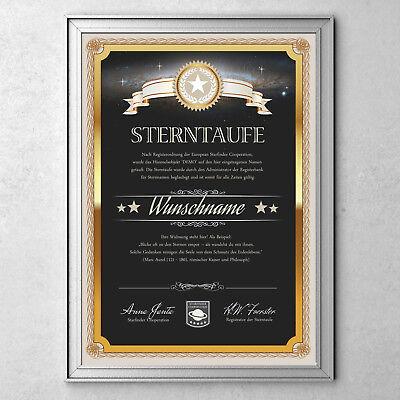 Glücksbringer Sterntaufe - Ein Stern für Schutz, Kraft, Mut gegen Angst. Prüfung