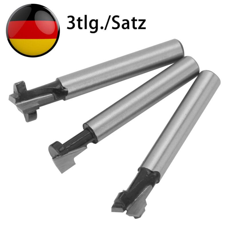 3tlg T-Nutfräser-Set Holzfräser 1/4'' Schaft 8mm Für M5 M6 M8 Sechskantschrauben