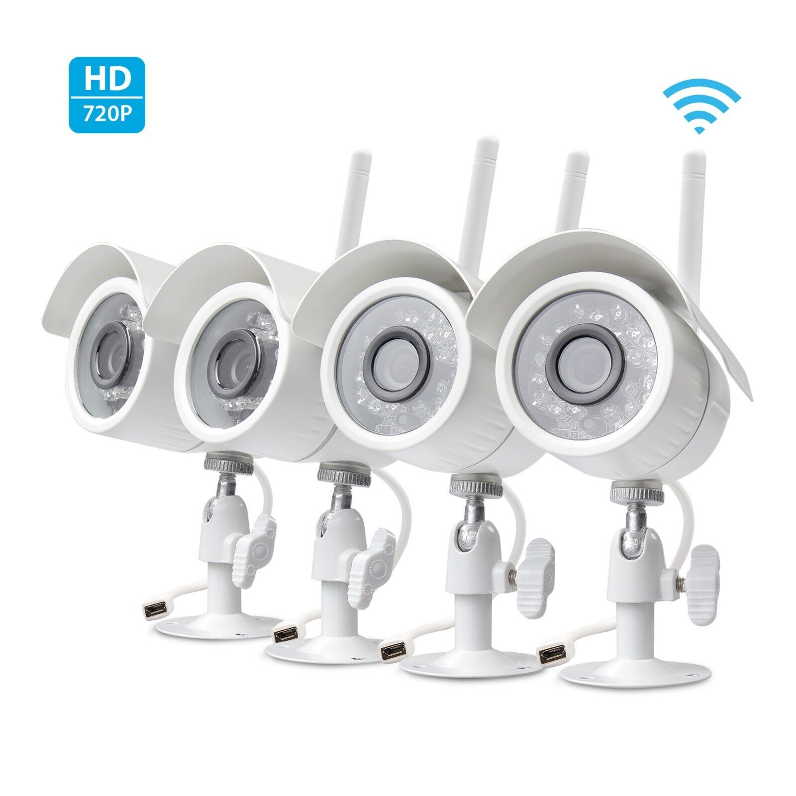 Купить Zmodo 720p HD 4 IP Wireless Outdoor IR Night Vision Home Security Camera System
